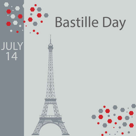 Bastille Day is the common name given in English-speaking countries to the national day of France, which is celebrated on 14 July each year. Vettoriali
