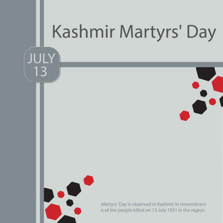 Martyrs' Day is observed in Kashmir in remembrance of the people killed on 13 July 1931 in the region.