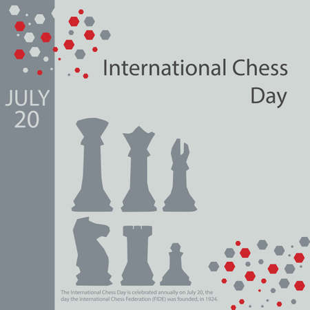 The International Chess Day is celebrated annually on July 20, the day the International Chess Federation (FIDE) was founded, in 1924. Archivio Fotografico - 151313744