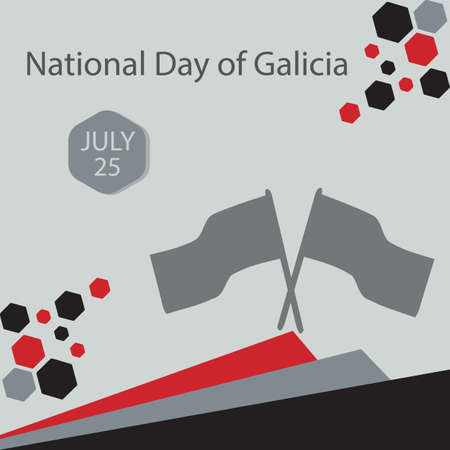 National Day of Galicia is when the autonomous community of Galicia in Spain celebrates its national holiday. It falls on 25 July. Vettoriali