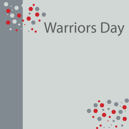 Warriors Day celebrated every year. Vettoriali