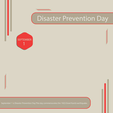 September 1 is Disaster Prevention Day.This day commemorates the 1923 Great Kant� earthquake. Vettoriali