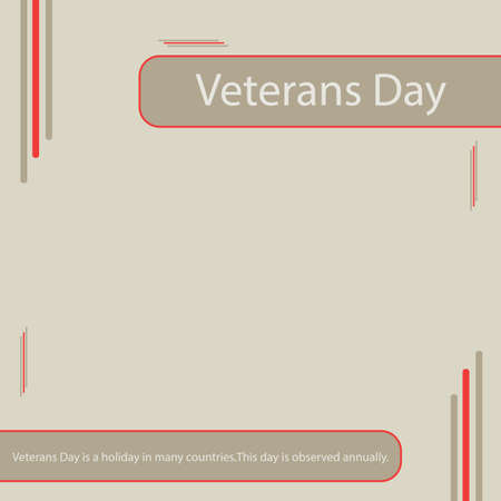 Veterans Day is a holiday in many countries.This day is observed annually. Vettoriali