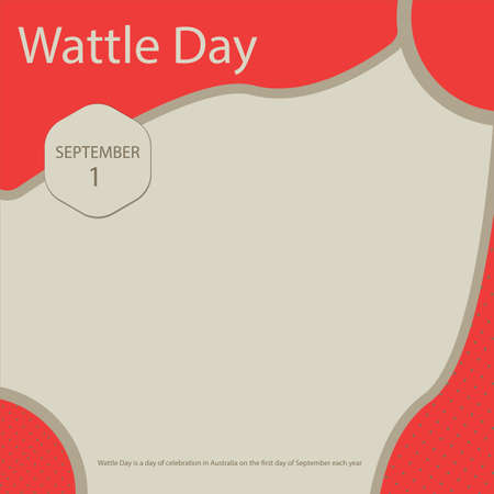 Wattle Day is a day of celebration in Australia on the first day of September each year Vettoriali