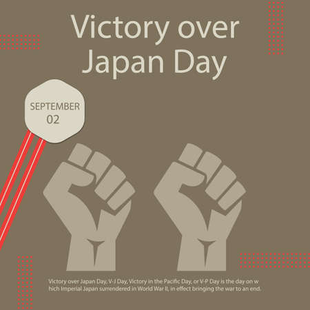 Victory over Japan Day abstract design