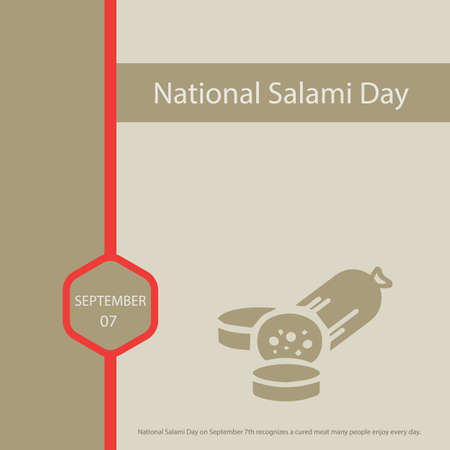 National Salami Day on September 7th recognizes a cured meat many people enjoy every day.