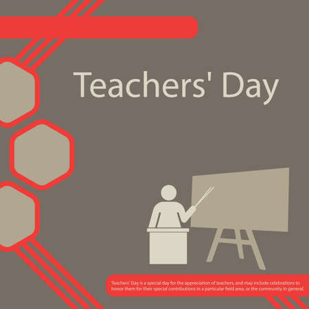 Teachers' Day is a special day for the appreciation of teachers, and may include celebrations to honor them for their special contributions in a particular field area, or the community in general. Vettoriali