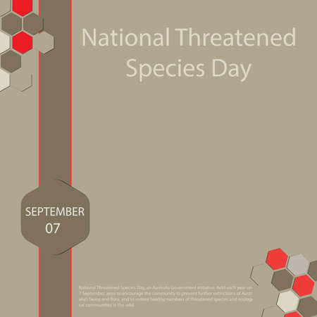 National Threatened Species Day, an Australia Government initiative, held each year on 7 September, aims to encourage the community to prevent further extinctions of Australia's fauna and flora