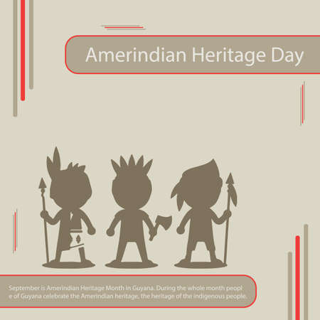 10 September is Amerindian Heritage day in Guyana. During the whole month people of Guyana celebrate the Amerindian heritage, the heritage of the indigenous people.