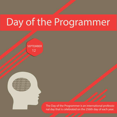 The Day of the Programmer is an international professional day that is celebrated on the 256th day of each year. Vettoriali