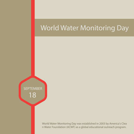 World Water Monitoring Day was established in 2003 by America's Clean Water Foundation (ACWF) as a global educational outreach program.
