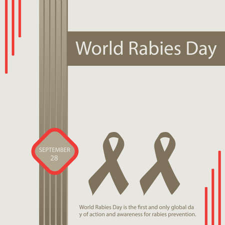 World Rabies Day is the first and only global day of action and awareness for rabies prevention. 向量圖像