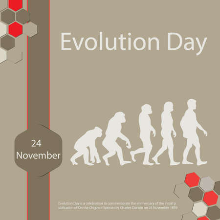 Evolution Day is a celebration to commemorate the anniversary of the initial publication of On the Origin of Species by Charles Darwin on 24 November 1859
