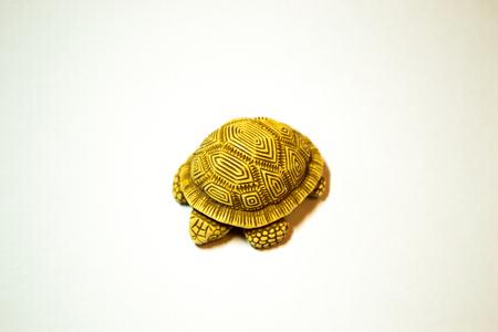 Netsuke turtle isolated on white background
