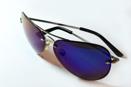 ultraviolet: Sunglasses aviator ultraviolet isolete on wite