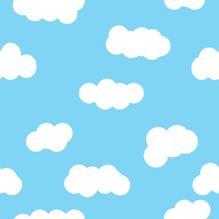 Cloud pattern blue wallpaper design. Seamless cloud pattern. Clouds weather abstract backdrop cartoon decoration. Clouds pattern. Clouds background. Cloud pattern style bright cloudy paper.