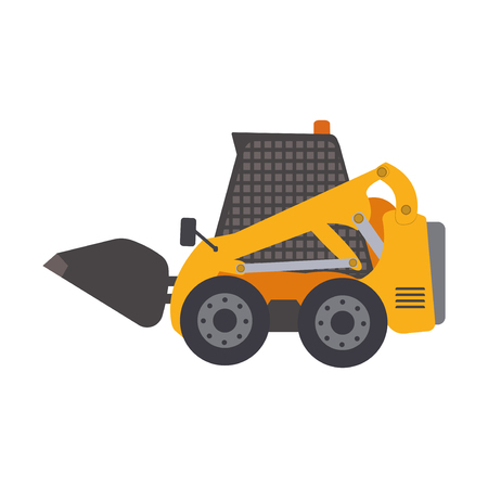 Skid steer loader vehicle. Heavy construction machine.
