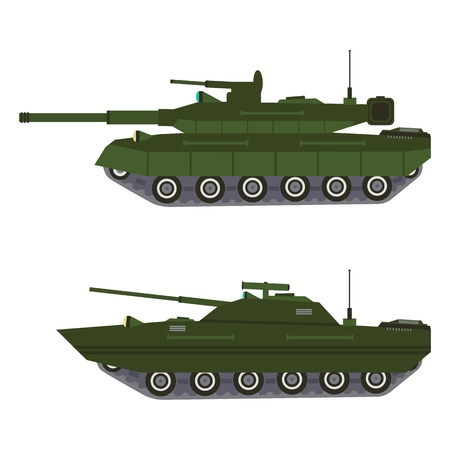Military vehicle equipment. Heavy battle tank reservations and special transport.