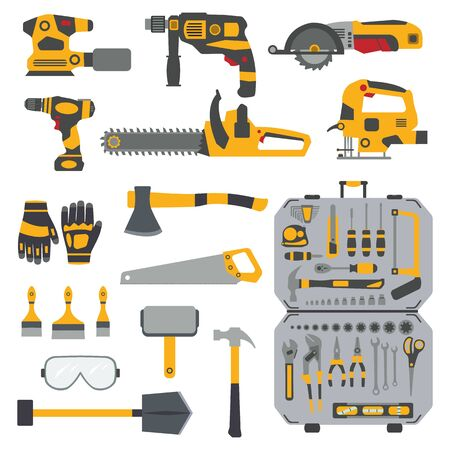 Screwdriver and Wrench Icon. illustration. Car repair. Service tools. 矢量图像