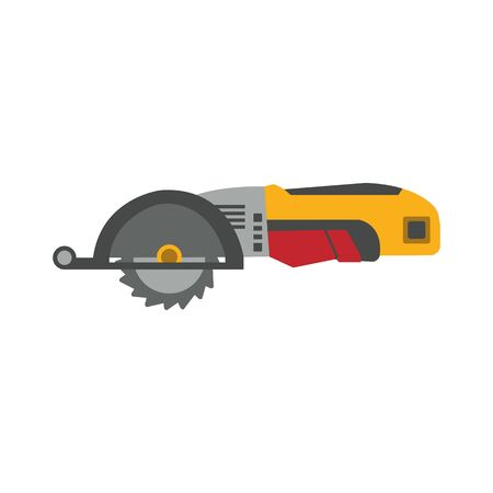 Industrial power isolated on white background. Electric construction tool, drilling and repair house work.