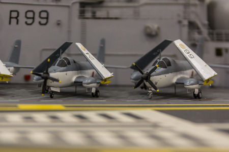 Static model, aircraft carrier Editorial