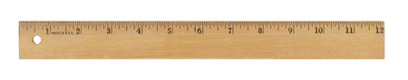 12 inch wood ruler isolated on a white background Reklamní fotografie