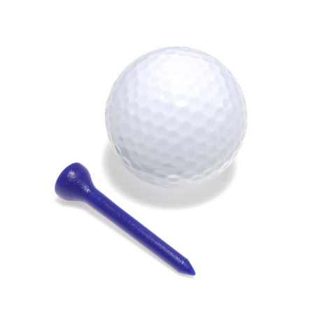 Golf ball and tee with drop shadow