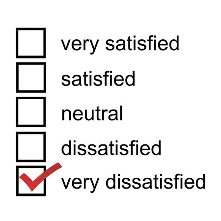 A feedback form very dissatisfied 5 point likert scale satisfaction survey