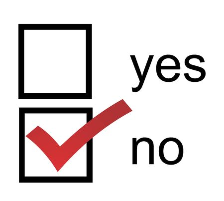 A No Yes checkbox with red No box checked