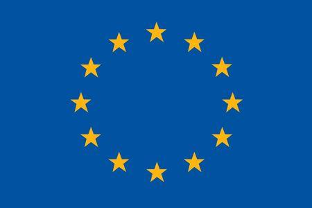 Flagge der Europäischen Union Hintergrundillustration große Datei Standard-Bild