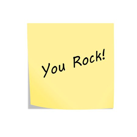 A You Rock reminder post note isolated