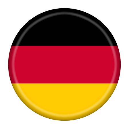 Germany button illustration with clipping path provided Imagens