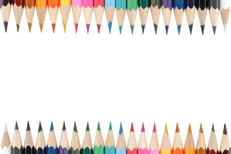 Brightly colored pencils border with copy space for your own text