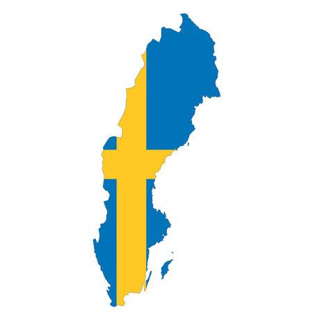 Sweden map on white background