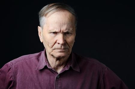 sad senior man photo