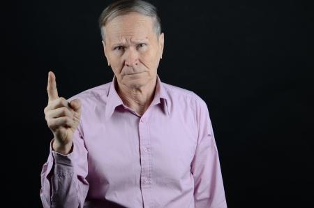Old Man Waving Goodbye