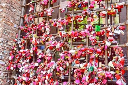 Locks of love near house of Juliet photo