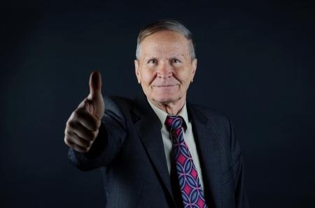 gl�cklich mann: gl�cklicher Mann thumb up