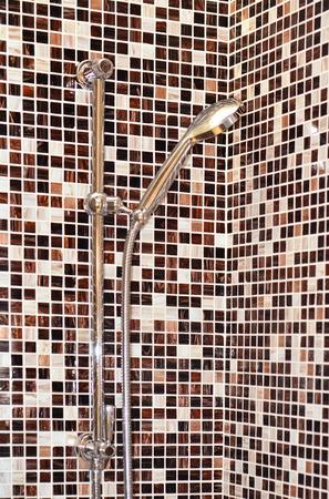 Head shower .luxurious modern design of bathroom photo