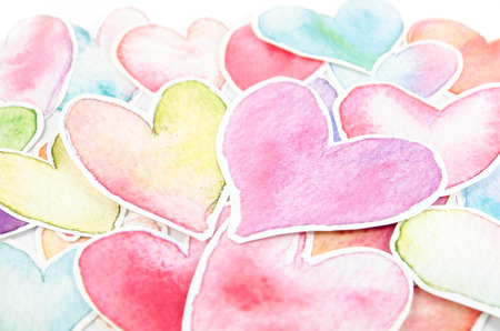 colorful heart: Colorful heart shape arranged on white background