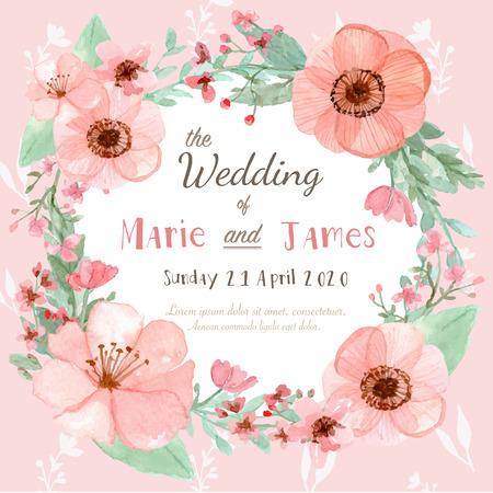 flores de cumplea�os: Tarjeta de invitaci�n de la boda de la flor, la tarjeta de fecha, tarjetas de felicitaci�n Vectores