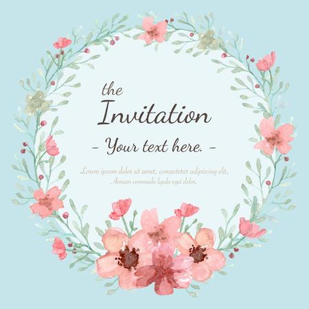 Flower bruiloft uitnodiging kaart, sparen de datumkaart, wenskaart Stockfoto - 40687542