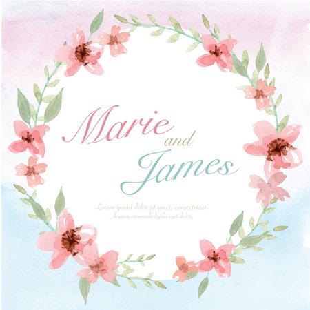 Tarjeta de invitación de la boda de la flor, la tarjeta de fecha, tarjetas de felicitación Foto de archivo - 40687553