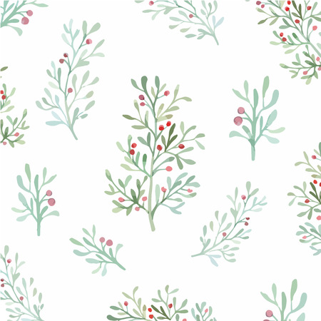 pink flower background: Seamless flowers and leaves wallpaper pattern vector on plain background