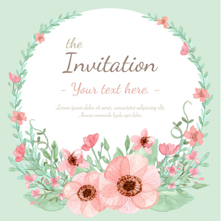greeting card: Flower wedding invitation card, save the date card, greeting card