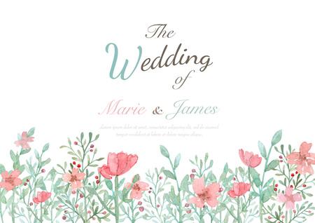 Fleur carte d'invitation de mariage, sauvez la carte de date, carte de voeux Banque d'images - 47826317