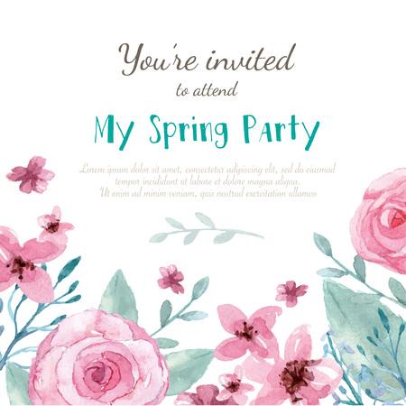 Fleur carte d'invitation de mariage, sauvez la carte de date, carte de voeux Banque d'images - 47832267