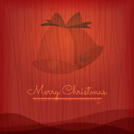 holiday background: Vector Christmas Greeting Card. Merry Christmas lettering and background Illustration