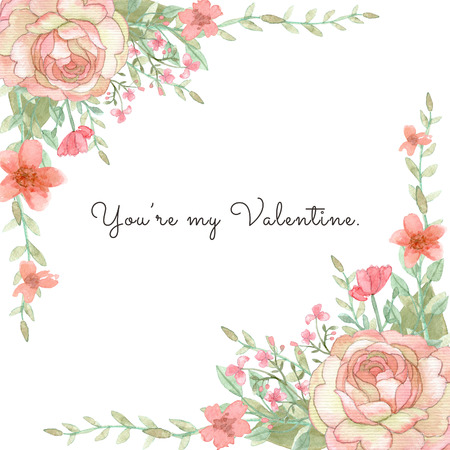 Flower wedding invitation card, save the date card, greeting card, valentine card Stok Fotoğraf