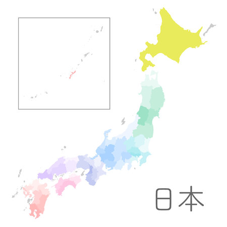 shikoku: Japan map high detailed Illustration Illustration